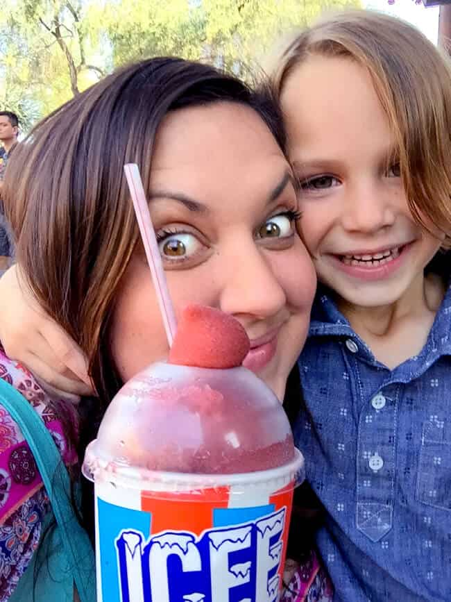 Boysenberry Icee at Knott's