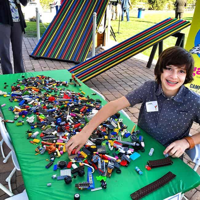 Playing Legos at the South Coast Botanic Garden