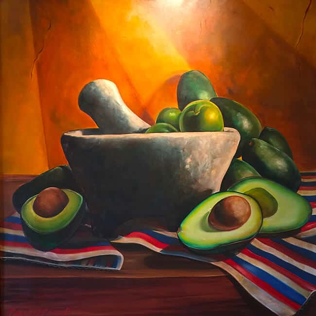 Tortilla Jo's Avocado Painting
