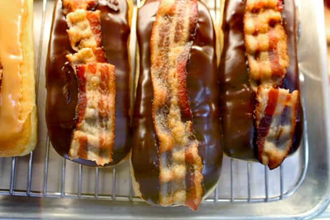 Bacon Maple Donuts