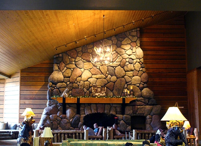 Great Wolf Lodge Fire Place