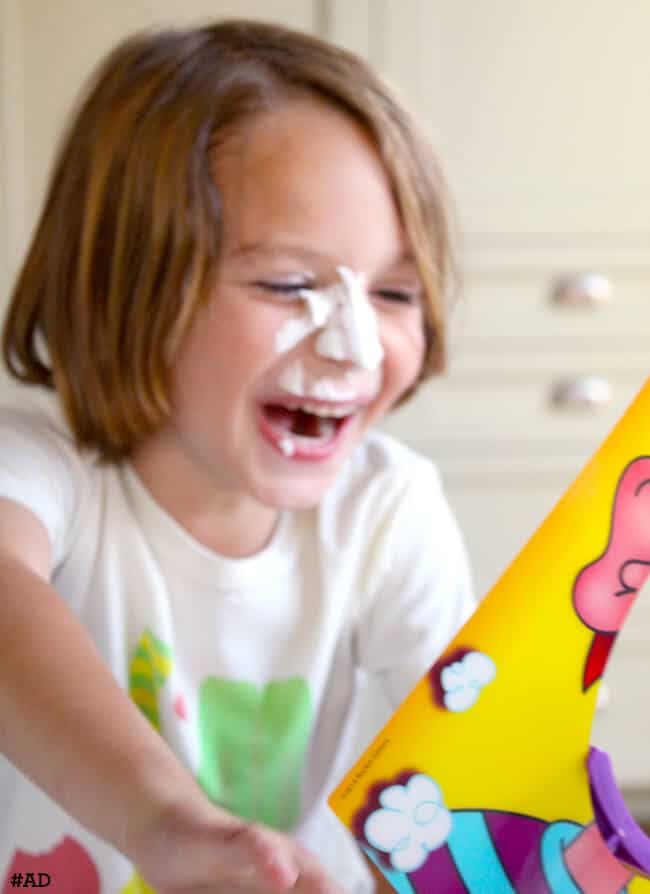 Having Fun with Pie Face Game by Hasbro copy