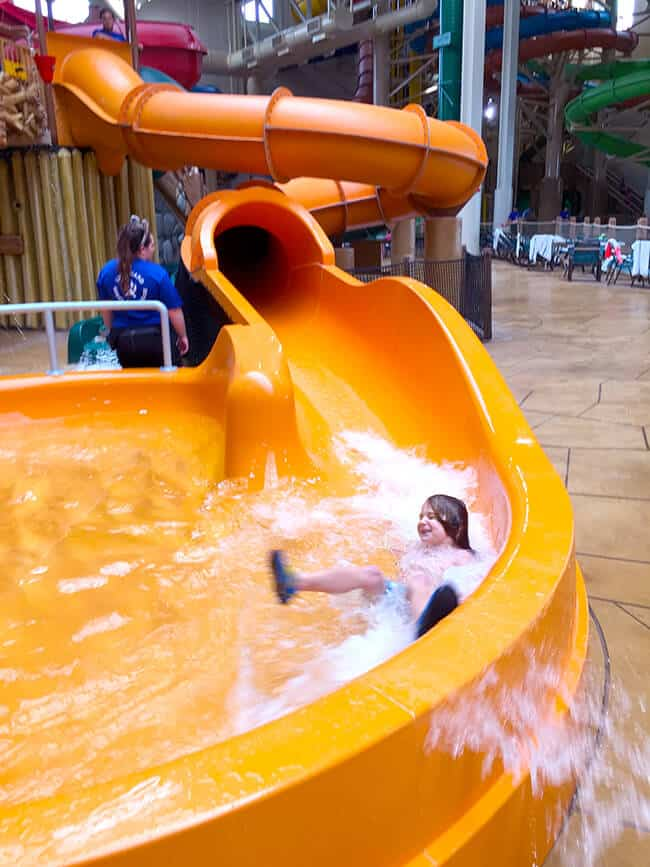 Kid Waterslide at the Great Wolf Lodge