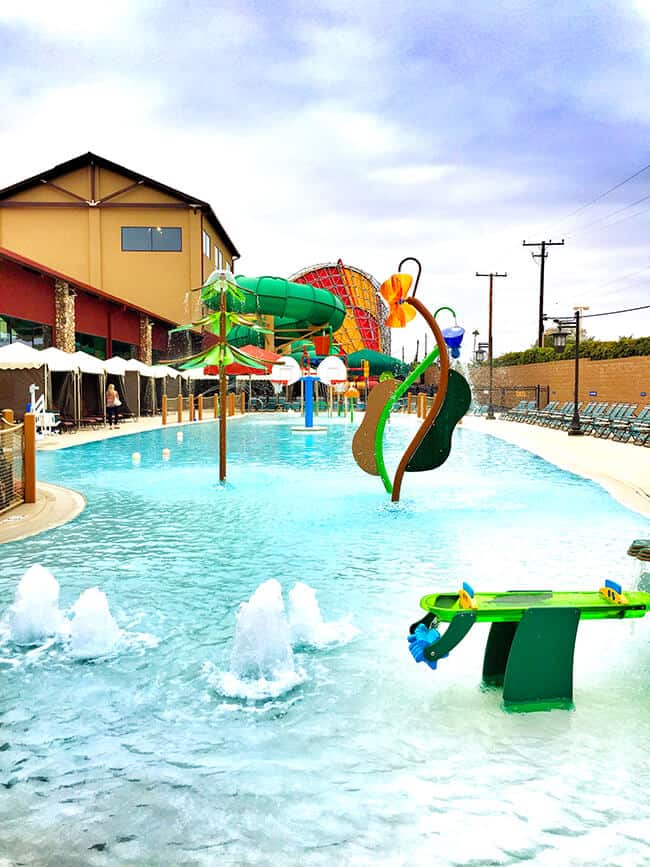 Outdoor Water Park area at the Great Wolf Lodge