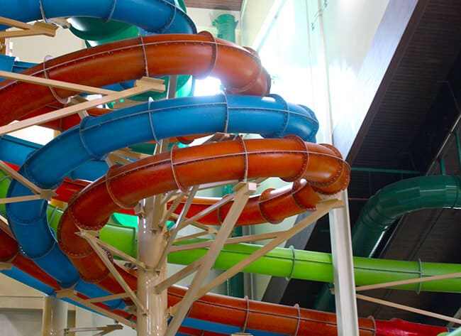 Rainbow Slides at the Great Wolf Lodge