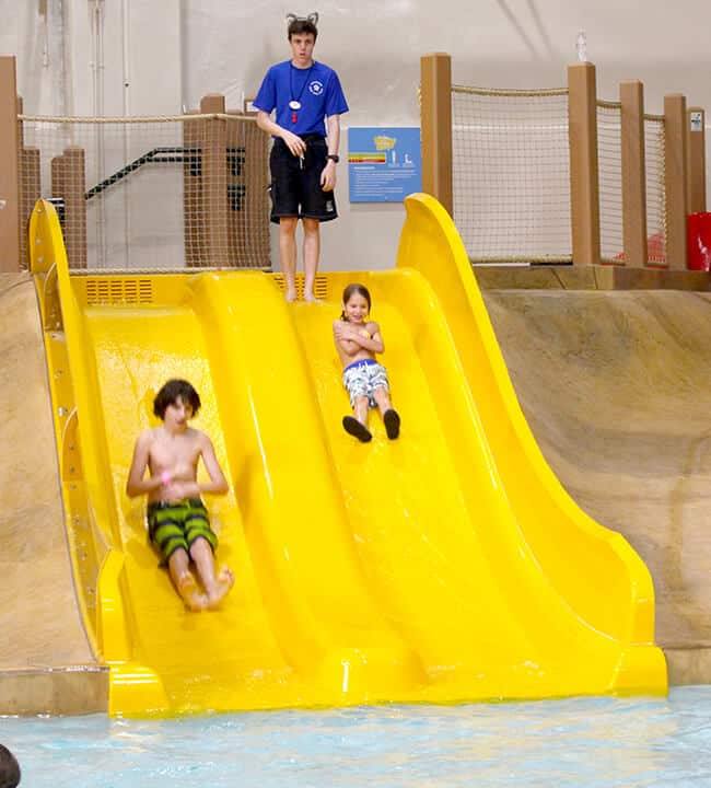 baby Slides at the Great Wolf Lodge