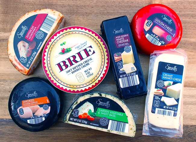 Assorted ALDI Cheeses