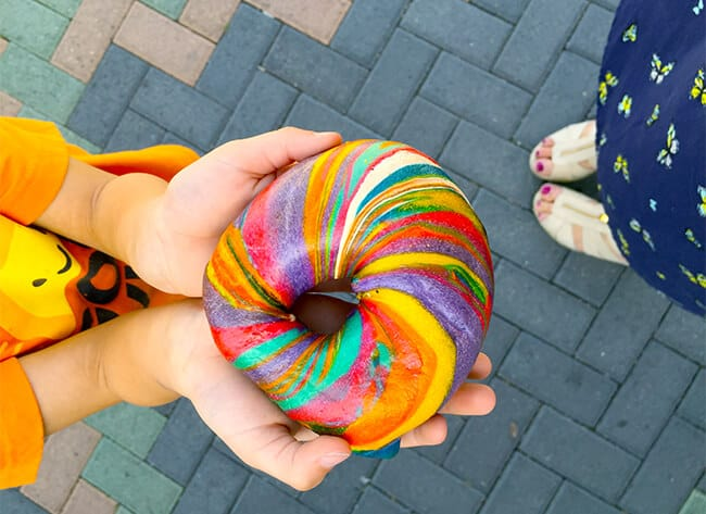 Best Rainbow Bagels in Orange County