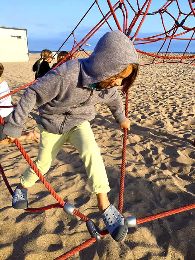 Climbing on the Spiderweb at Balboa State Beach