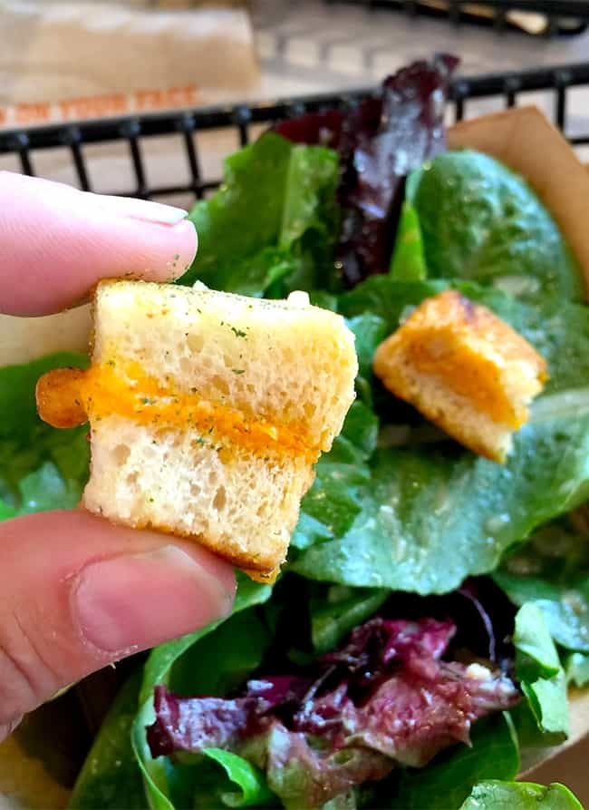 Grilled Cheese Croutons - Popsicle Blog