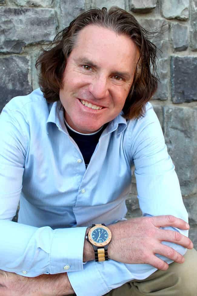 Chad Parkin Wearing a Jord Watch
