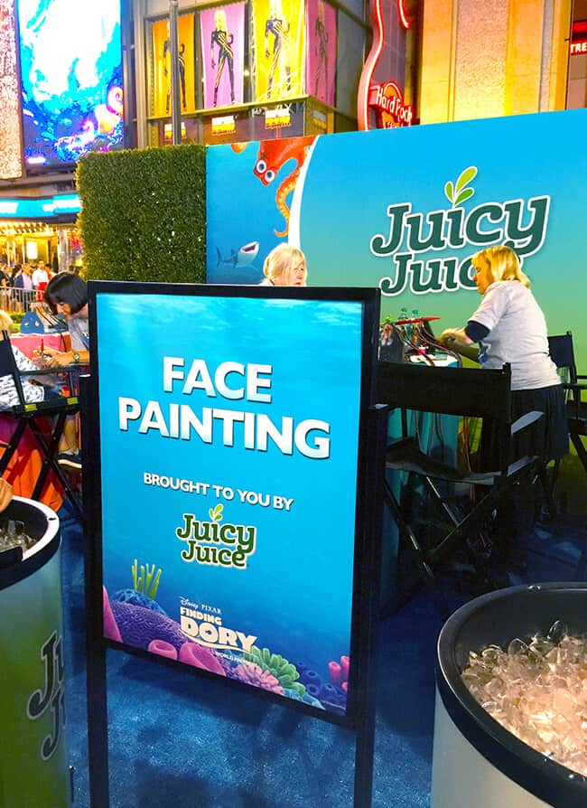 Juicy Juice Face Painting at Finding Dory Party