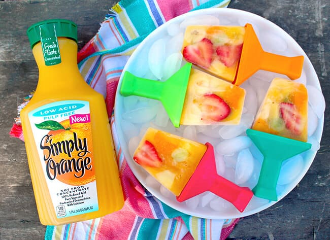 Simply Orange Low Acid Orange Juice Popsicles