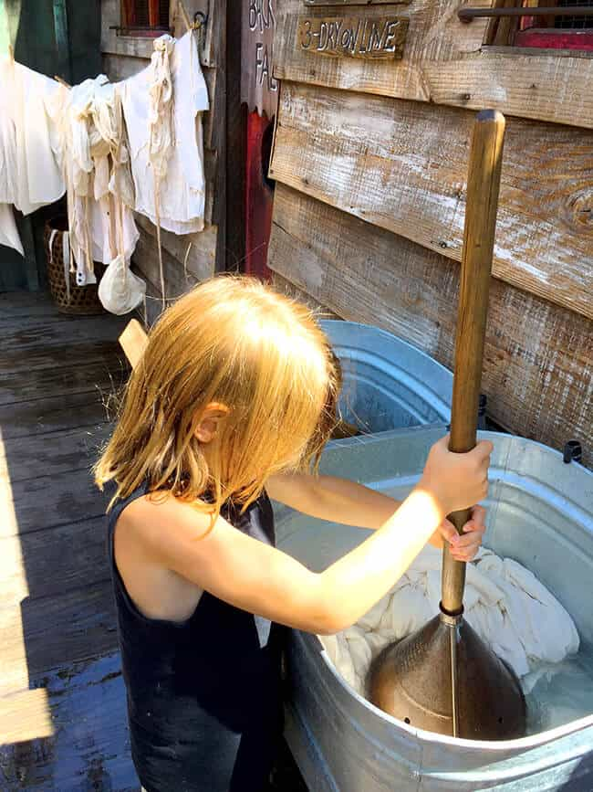 Washing Clothes in Knott's Ghost Town