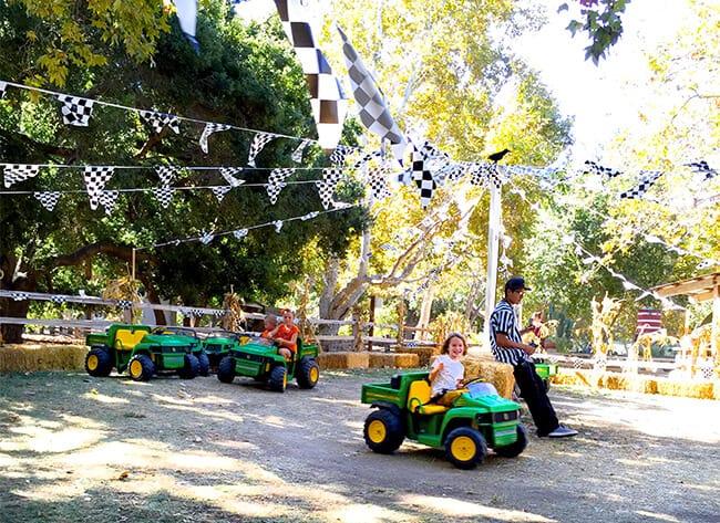 Irvine Park Railroad Pumpkin Patch Tractors
