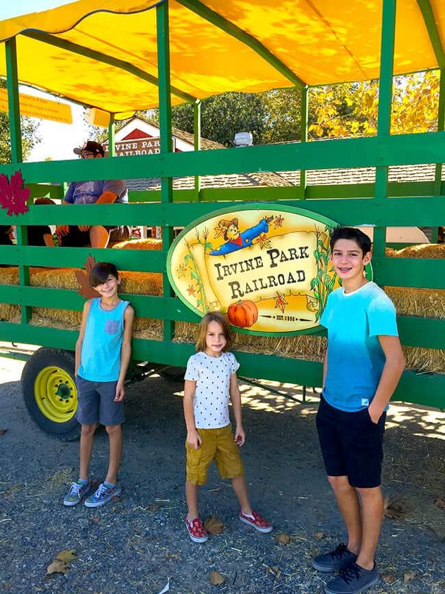 Irvine Park Railroad Pumpkin Patch Hay Ride