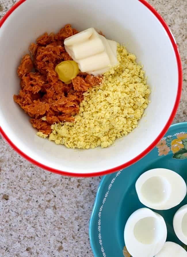 Tuna Deviled Eggs - Popsicle Blog