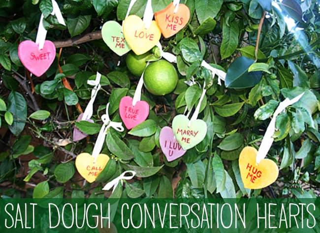Salt Dough Conversation Hearts | Kid's Valentine Craft