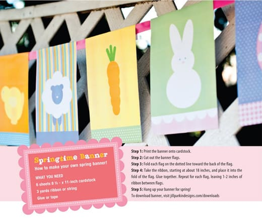 Spring Flags Banner: free printable - Popsicle Blog