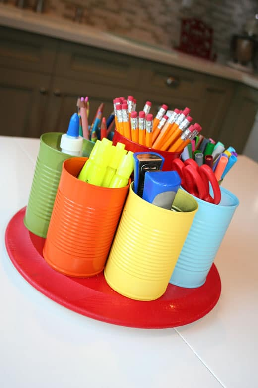 Dollar Store Organizing Ideas and Projects for the Entire Home. July 24, Houzz – Tackle a Tornado of Ribbons with Simple Storage Ideas. organization solutions. You just have to put art supplies in the cups and use the muffin tin to keep them neat. This is a great way to keep scissors, crayons and other art supplies off the floor.