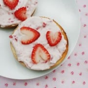 Strawberry Cream cheese Bagels