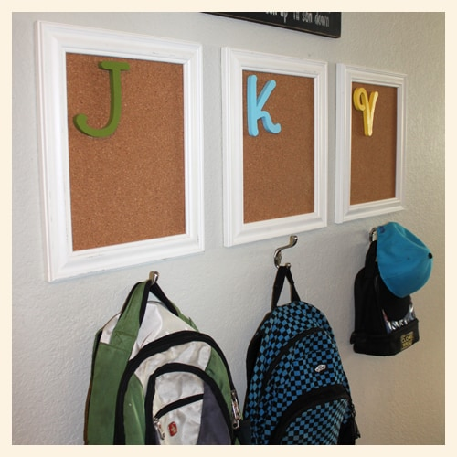 3 Coat Hooks Were Installed Below Each Frame And Secured With Anchor Bolts Above Everything I Hung This Fun Sign Got At A Baby Shower Perfect