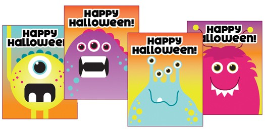 Smarties Halloween Printable Candy Cards - Popsicle Blog