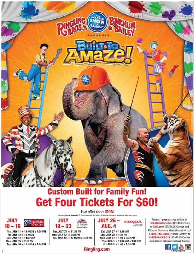 Ringling Bros And Barnum & Bailey Circus San Jose Ca Tickets are available on discounted rates with special offer codes. All you need to do is just use the discount codes according to the directions and the cheap rates will be provided right away.