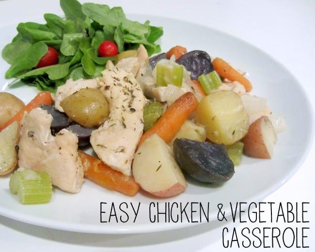 Easy Chicken & Vegetable Casserole #QuickFicCasseroles