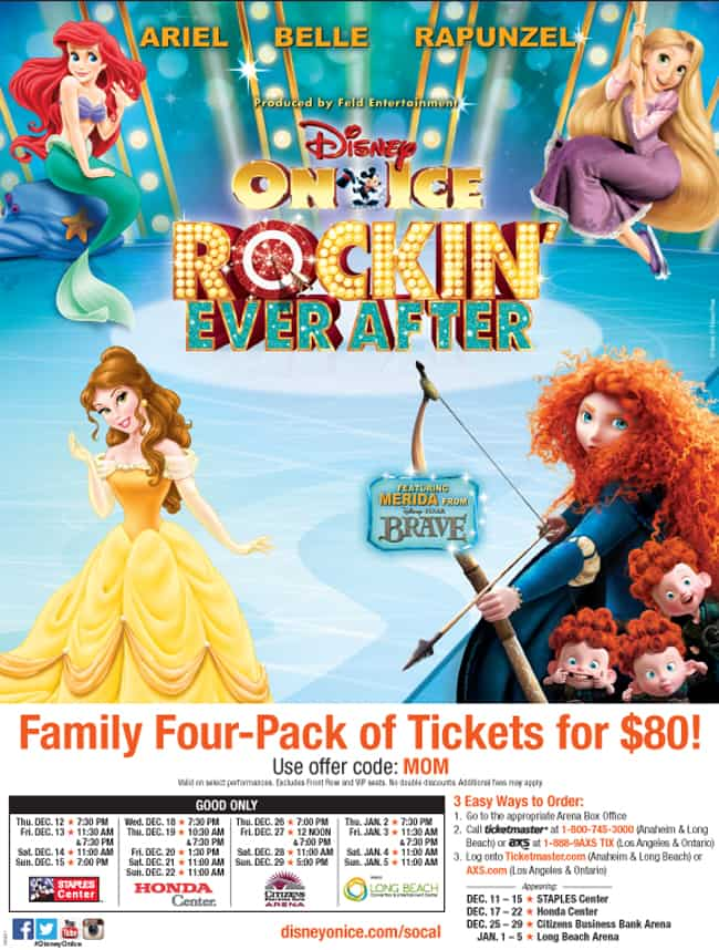 Disney on ice rockin ever after coupon code nyc