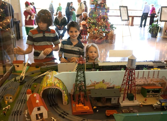 Richard Nixon Library Trains, Trees and Traditions exhibit