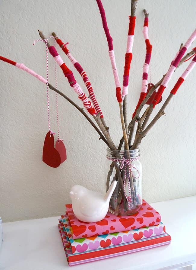 Valentine s day craft centerpiece tutorial popsicle