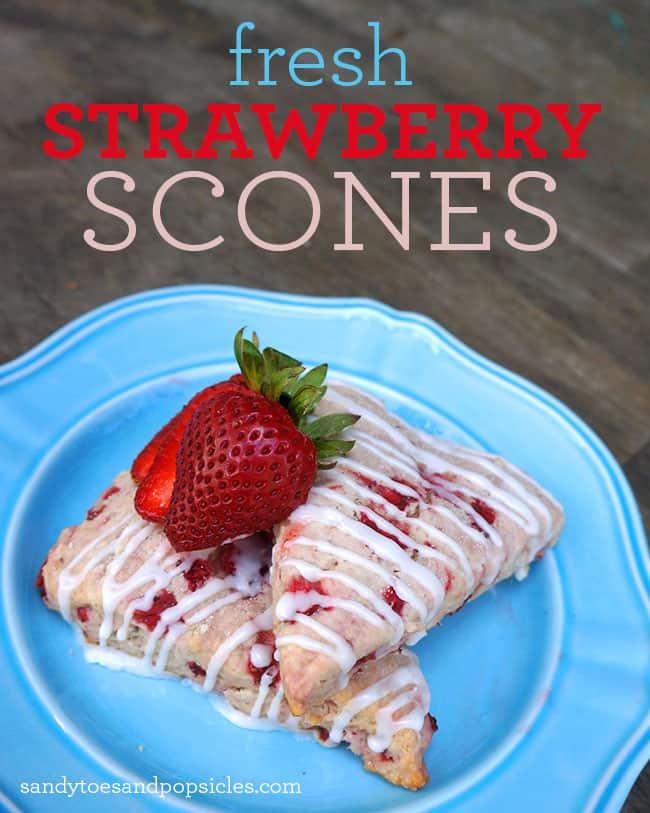 Easy Strawberry Scones Recipe