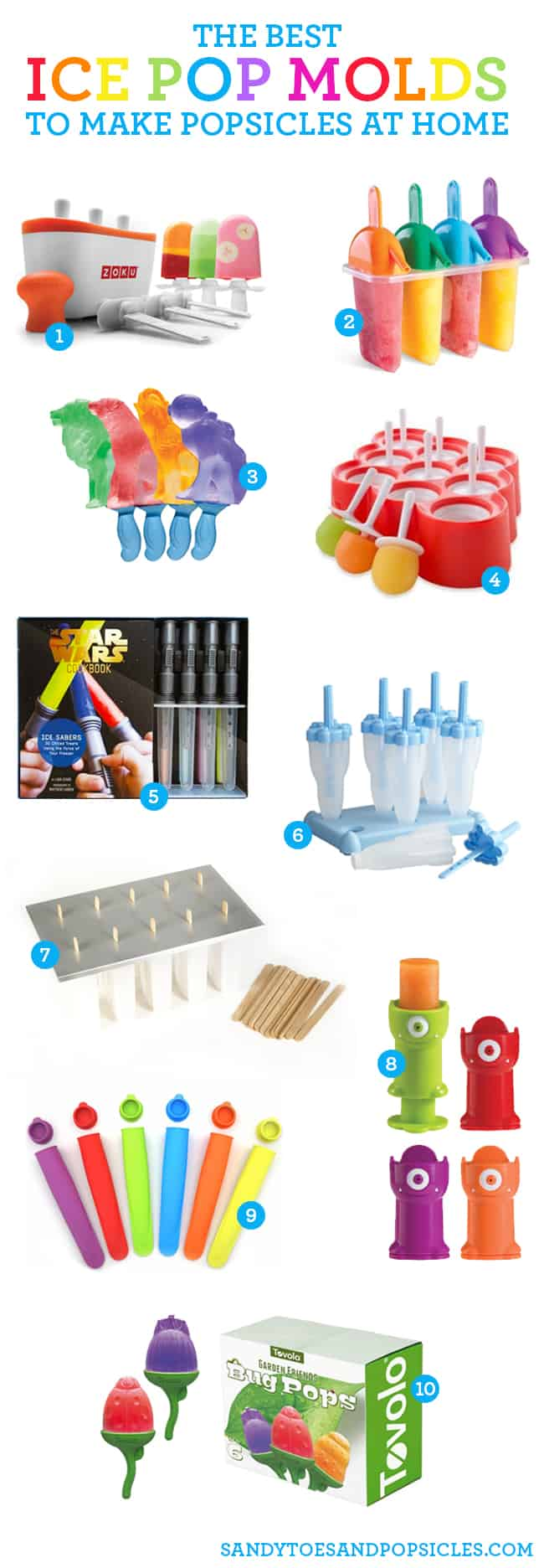 10 Great Ice Pop Molds To Make Homemade Popsicles