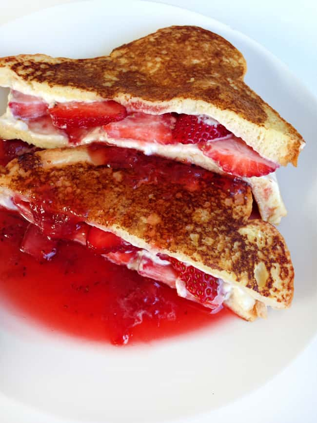 Strawberry Stuffed French Toast with Strawberry Syrup Recipe