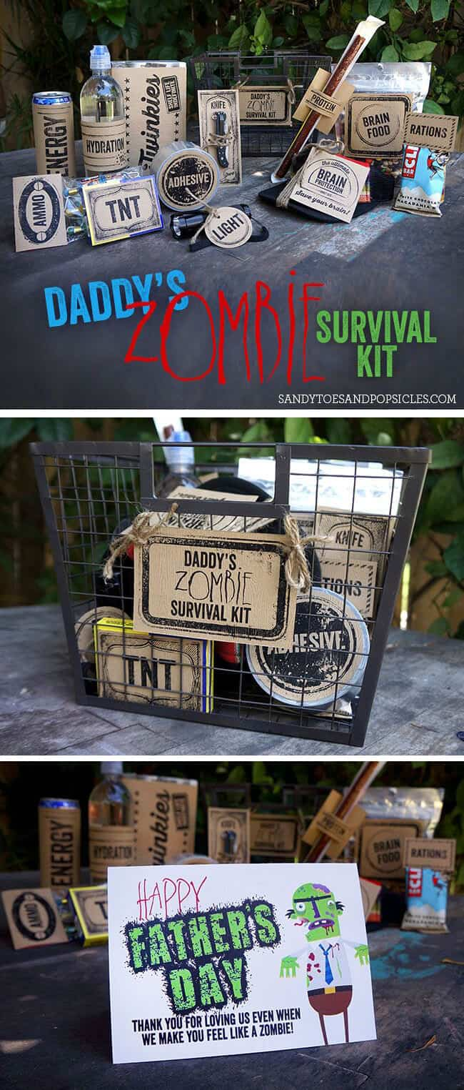 Father's Day Zombie Gift with Free Printabless