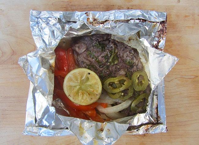 Fajita Steak Camping Packets