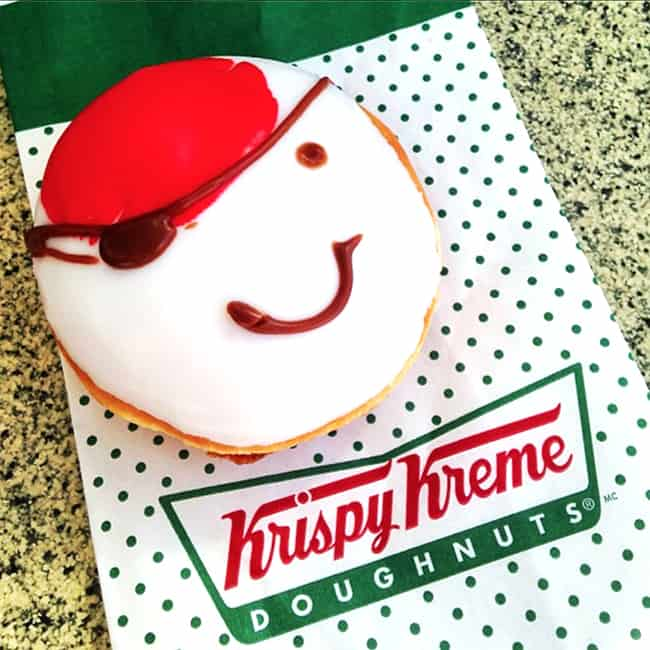 Free Krispy Kreme Talk Like A Pirate Day Donut