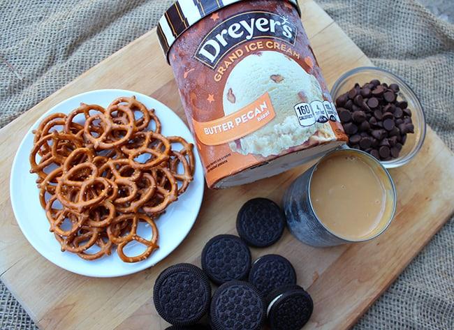 Ice Cream Pretzel Caramel Bars Recipe