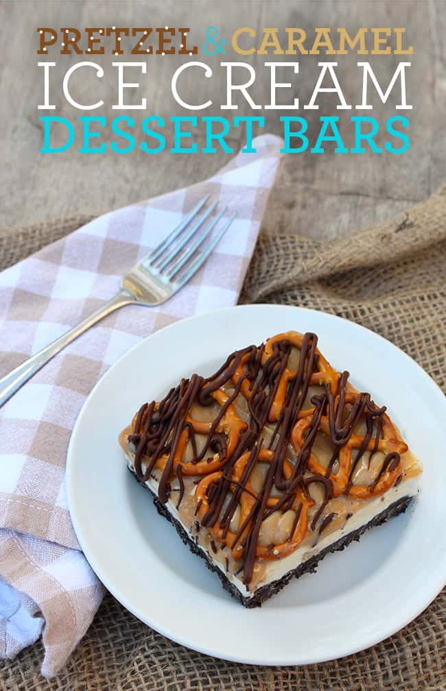 Pretzel and Caramel Ice Cream Dessert Bars Recipe