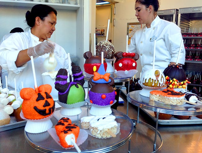 Disneyland Halloween Candy Apples