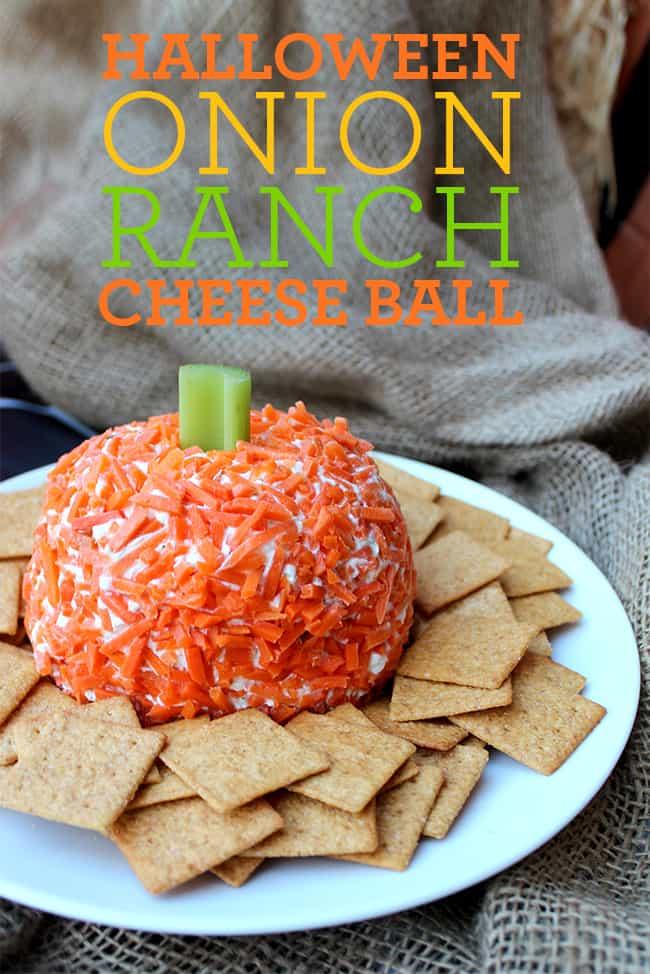 Halloween Appetizer Cheese Ball