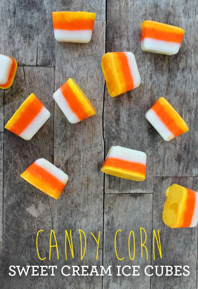 Halloween Candy Corn Ice Cubes