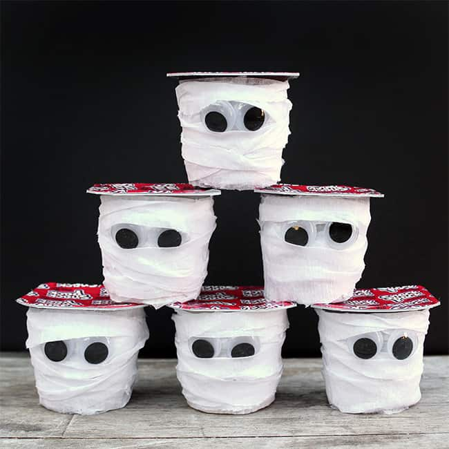 How to make Halloween Mummy Pudding Cups