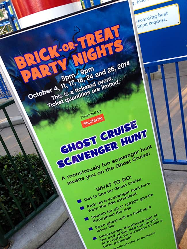 Legoland Brick-or-Treat Boo Cruise