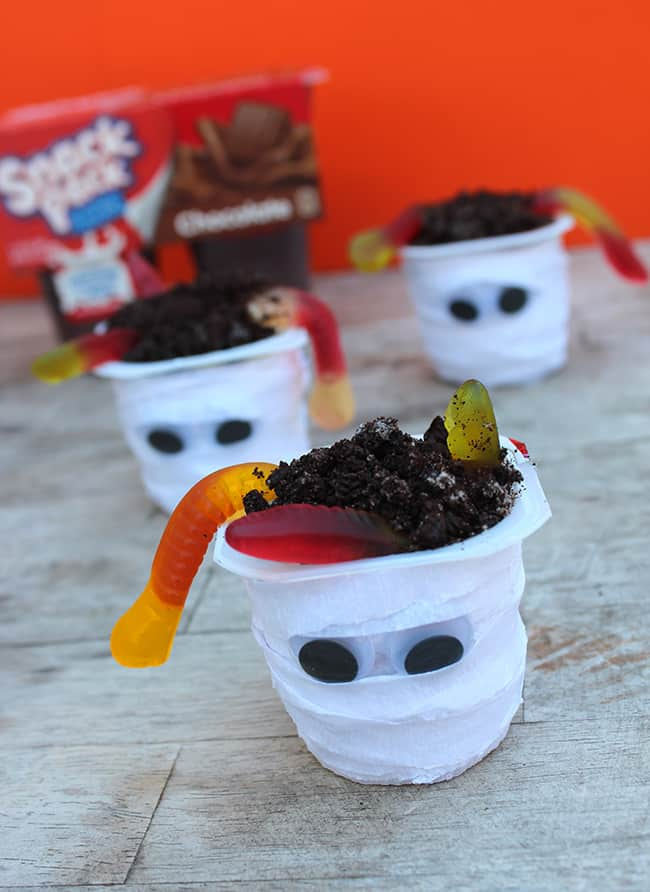Mummy Snack Pack Pudding Cups Ideas