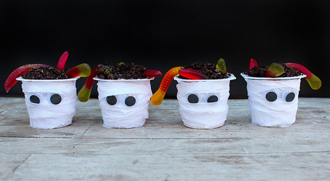 Snack Pack Pudding Halloween Recipe