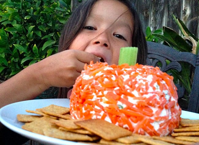 Halloween Ranch & Green Onion Cheese Ball Appetizer