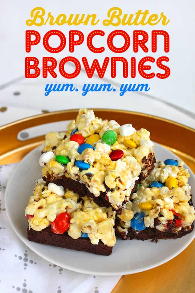 Brown Butter Popcorn Brownies