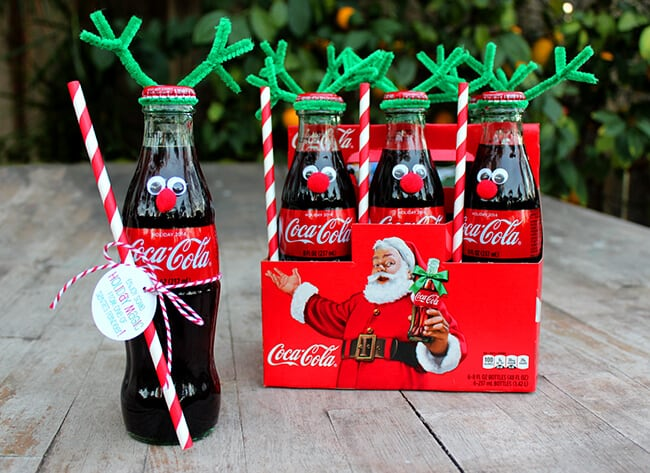 Coke Bottle Reindeer gift idea